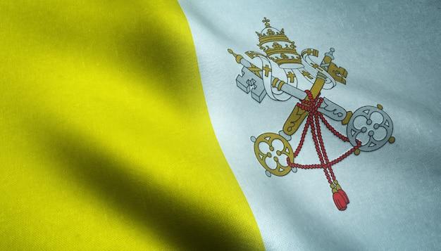バチカン市国の現実的な旗のクローズアップショット 無料写真