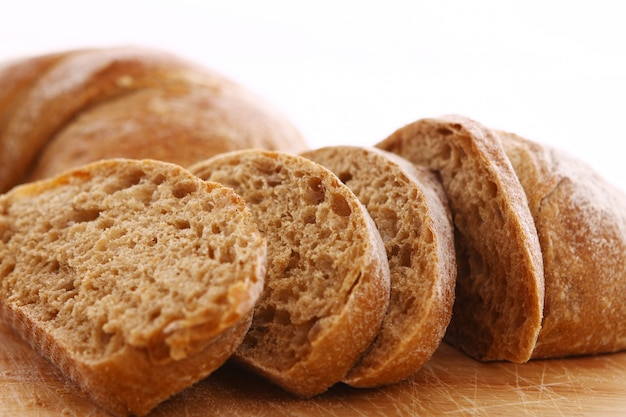 Closeup of sliced bread Free Photo