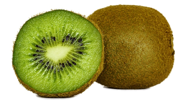 Closeup of sliced kiwi under the lights Free Photo