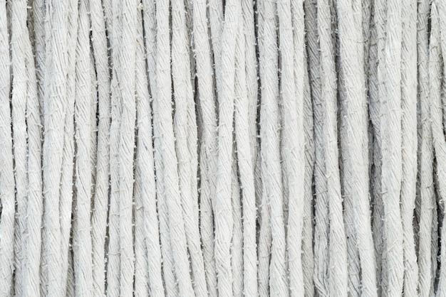 Closeup surface fabric at old mop texture background Premium Photo