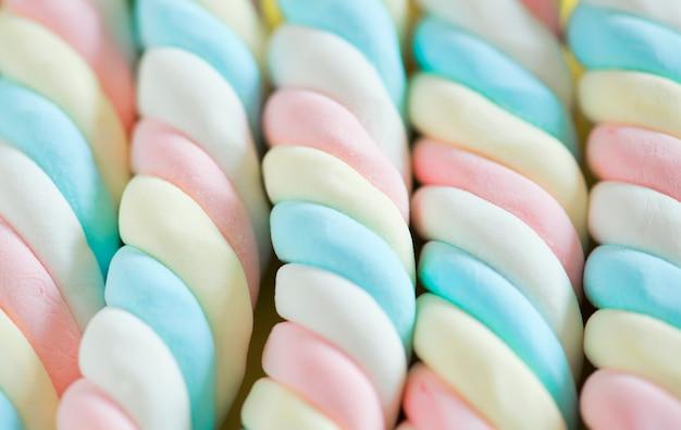Closeup of twisted marshmallow background Free Photo