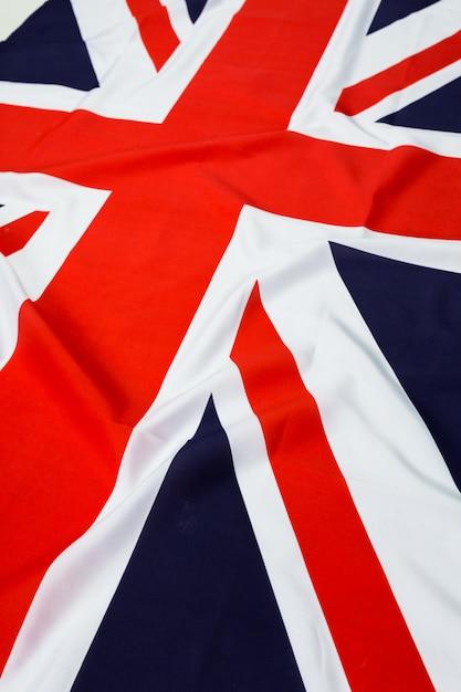 Closeup of union jack flag Premium Photo