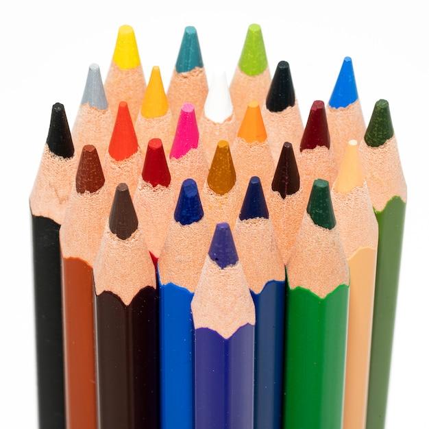 色鉛筆のclosupビュー Premium写真