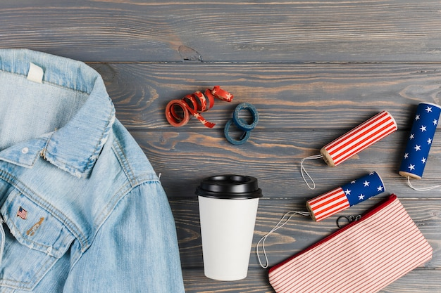 Clothes and decor for independence day Free Photo
