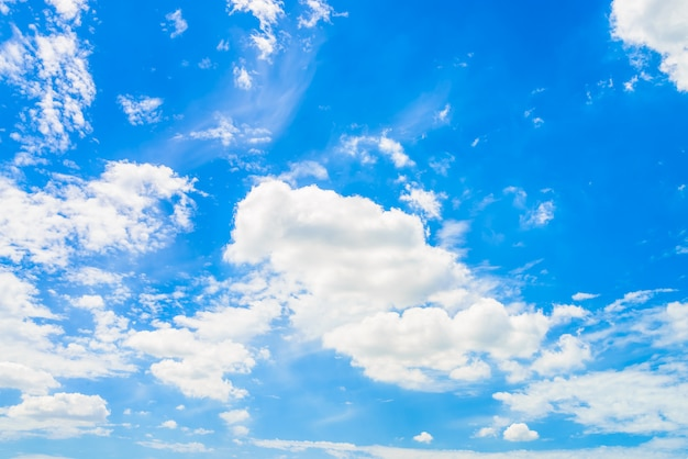Cloud on blue sky Free Photo