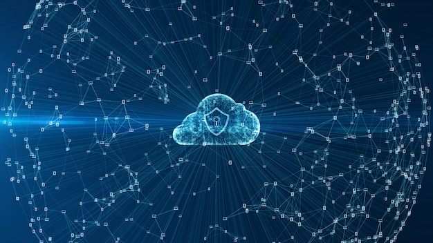 Cloud computing and cyber security . Premium Photo