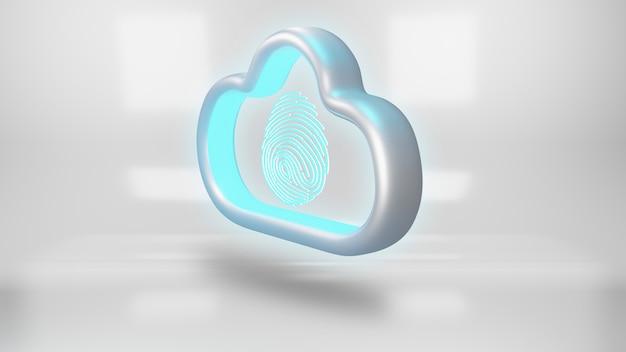 Концепция безопасности облачных данных. Premium Фотографии