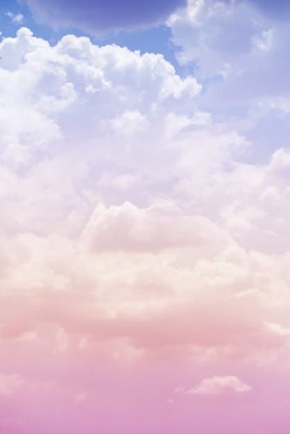 Cloud sky with a pink color Premium Photo