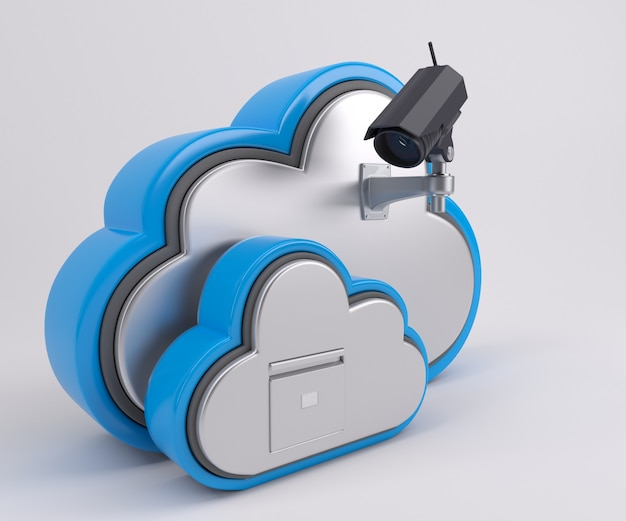 Cloud with security Free Photo