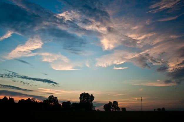ابرها در غروب آفتاب