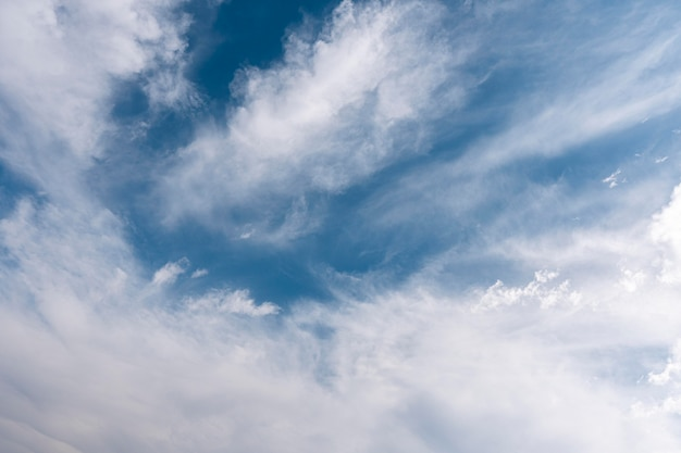 空の雲水平ショット 無料写真