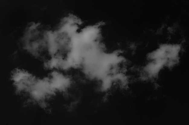 Clouds isolated on  black background with clipping path. Premium Photo