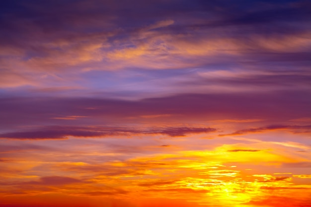 Cloudy sky on dawn Free Photo