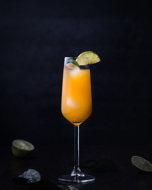 Cocktail drink with alcohol and orange juice Free Photo