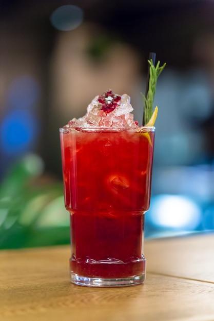 Cocktail on the table bar, restaurant Premium Photo