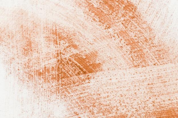 白い背景の上のココアパウダー Premium写真