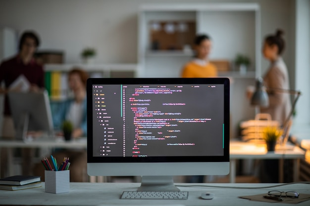 Coded stuff on screen Photo