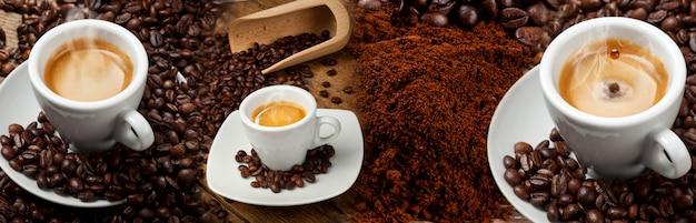 Coffee banner collage Premium Photo