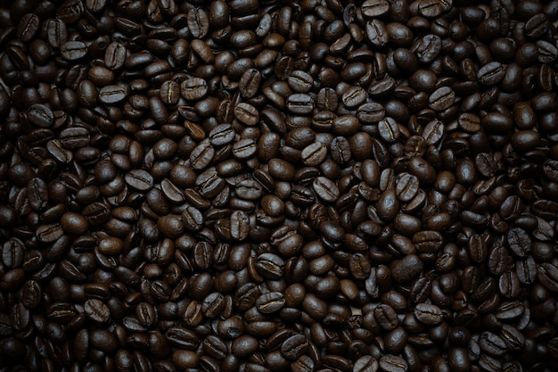 Coffee beans background. Free Photo