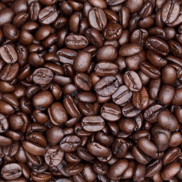 Coffee beans background Premium Photo
