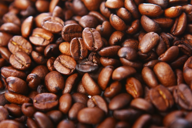 Coffee beans background Free Photo