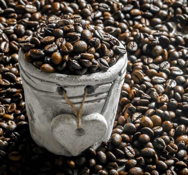 土鍋のコーヒー豆 無料写真