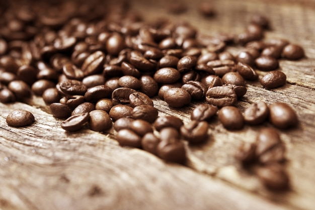 Coffee Beans on Wood Free Photo