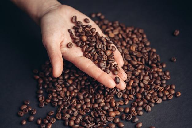 コーヒー豆、焙煎コーヒー Premium写真