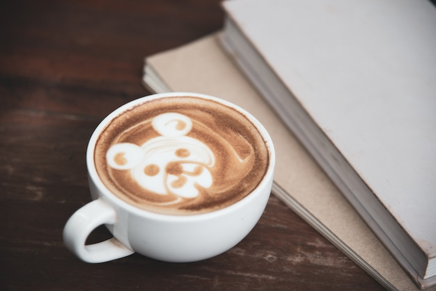Coffee cup latte art Free Photo