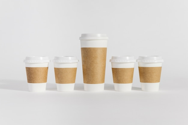 Coffee Cups Of Diffe Sizes Free Photo
