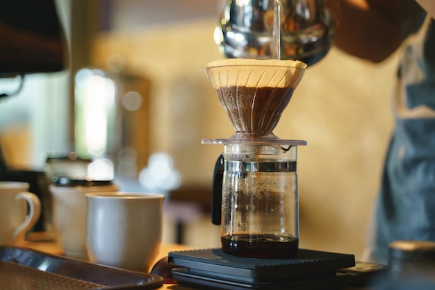 Coffee drip process Premium Photo