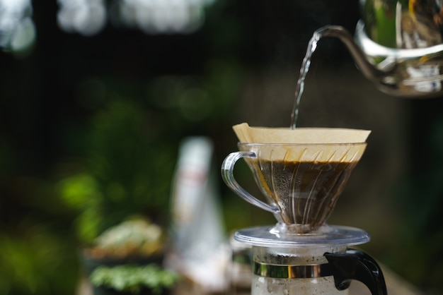 Coffee drip process Premium Photo