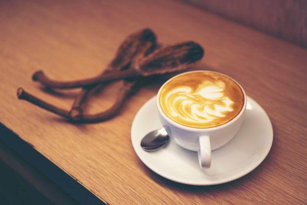 Coffee latte art Premium Photo