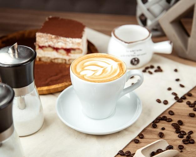 Coffee latte  side view Free Photo