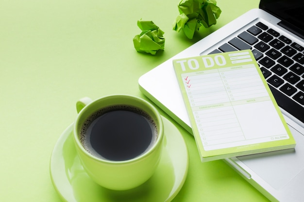 Coffee and to-do list Free Photo