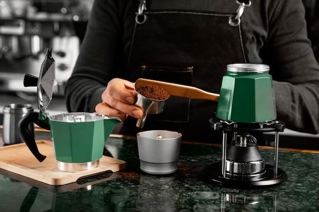 Расположение предметов для приготовления кофе Бесплатные Фотографии
