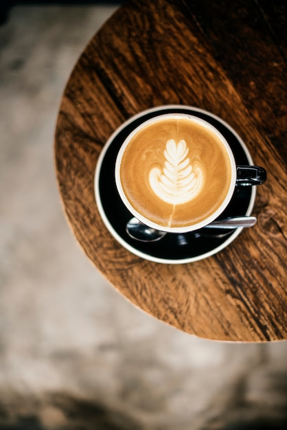 Coffee shop cafe restaurant latte cappuccino concept Free Photo