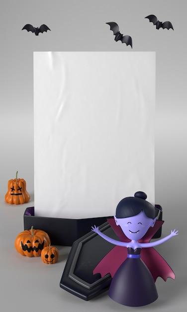 Украшение гроба и вампира на хэллоуин Бесплатные Фотографии