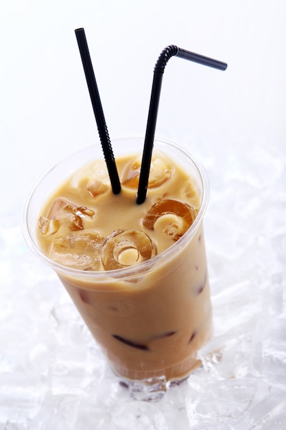 Cold coffee drink Free Photo