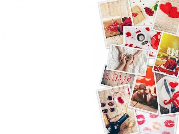 Collage of love and romance. selective focus. Premium Photo