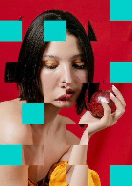 Коллаж с красивой женщиной Бесплатные Фотографии