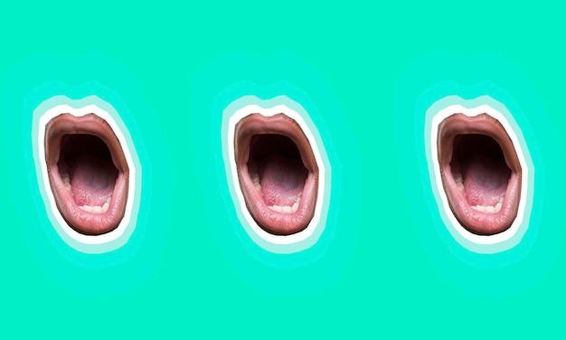 口コレクションのセットでコラージュします。 無料写真