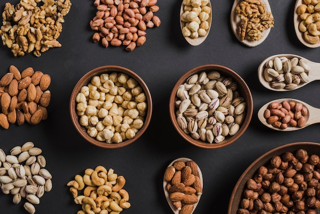 Collection of assorted nuts Free Photo
