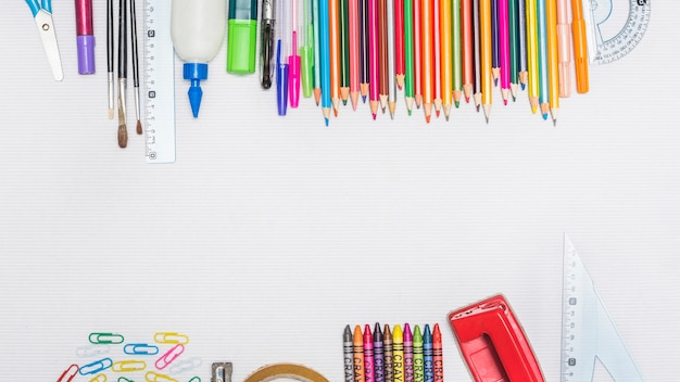 Collection of assorted stationery Free Photo