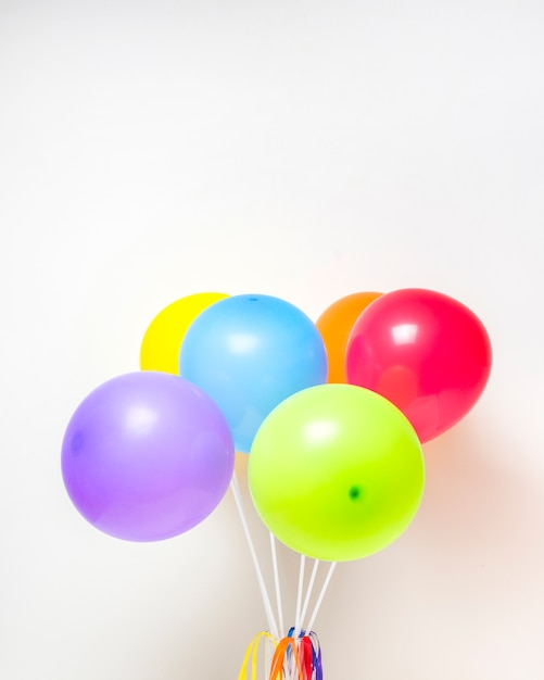 Collection of bright balloons Free Photo