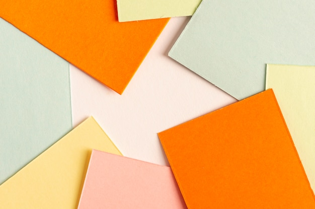 Collection of colorful cardboard sheets Free Photo