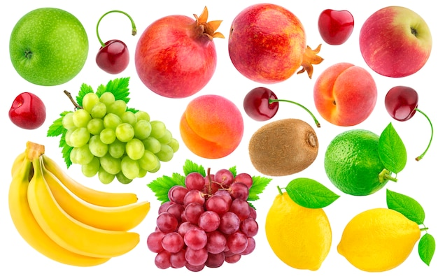 Collection of different fruits and berries Premium Photo