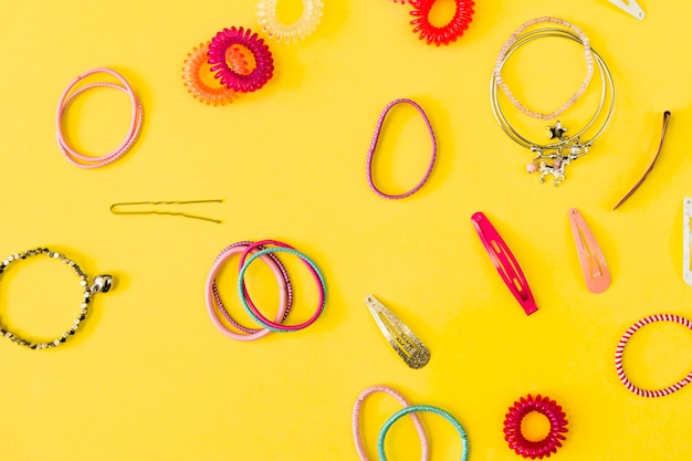 Collection of hair accessories Free Photo