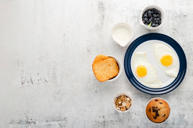 Collection of healthy start breakfast Free Photo
