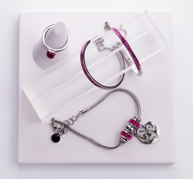 Collection of jewelry Premium Photo